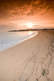 Sunset at beach Stock Photography