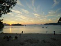 Sunset. At beach Royalty Free Stock Photos