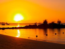 Free Sunset Beach Royalty Free Stock Images - 8889689