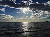 Sunset. At the beach Stock Photos