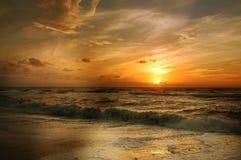 Sunset on beach Stock Image