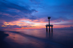 After sunset on the beach Royalty Free Stock Photography