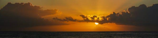 Sunset. From the beach of Baiona, Spain Stock Photo