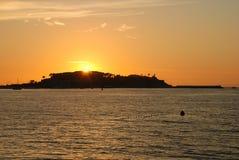 Sunset. From the beach of Baiona, Spain Stock Photos