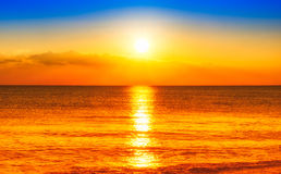 Sunset on the beach. A beautiful sunset on the beach Royalty Free Stock Photos