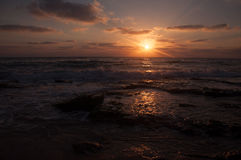 Sunset on the beach. A beautiful sunset on the beach Royalty Free Stock Photo