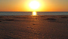 Sunset on the beach. A beautiful sunset on the beach Stock Image