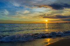 Sunset by the beach Royalty Free Stock Image