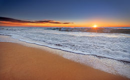 Sunset and beach. Beautiful moment Sunset and beach Stock Photography