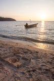 Sunset at the beach Stock Photos