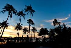 Sunset at a beach Stock Photos