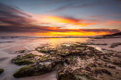 Sunset beach Royalty Free Stock Photography