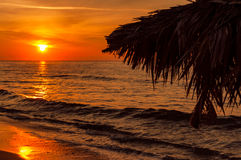 Sunset on the beach. Beautiful sunset on the sardinia's beach Royalty Free Stock Image