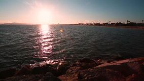 Sunset Beach. Beautiful sunset beach view of Long Beach California great background for your next project stock video footage