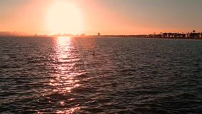 Sunset beach. Beautiful sunset beach view of Long Beach California great background for your next project stock video