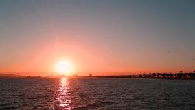 Sunset beach stock video