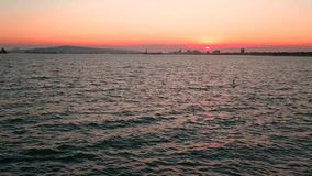 Sunset beach. Beautiful sunset beach view of Long Beach California great background for your next project stock footage
