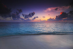 Sunset on beach Royalty Free Stock Photos