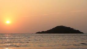 Sunset on the Beach. Beauty Sunset on the Beach stock footage