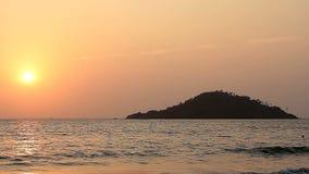 Sunset on the Beach. Beauty Sunset on the Beach stock video footage