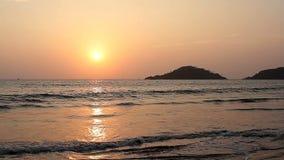 Sunset on the Beach. Beauty Sunset on the Beach stock video