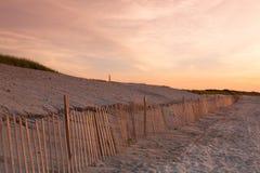 Sunset on the beach, Cape Cod, USA Royalty Free Stock Photos