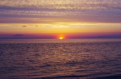 Sunset. A sunset on the beach in Cape May, New Jersey Stock Photography