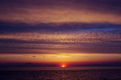 Sunset. A sunset on the beach in Cape May, New Jersey Stock Photos