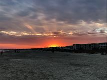 Sunset on the Beach royalty free stock photo