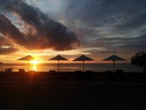 Sunset beach at chonburi Royalty Free Stock Photos