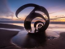 Mary`s Shell at Cleveleys Beach stock photography