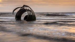 Marys Shell on Cleveleys beach, England stock photo