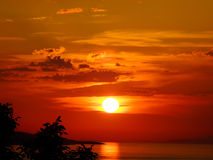 Sunset and beach. Sunset in the beach,Croatia Stock Photos