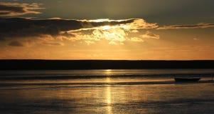 Sunset beach dorset Royalty Free Stock Photos