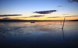 Sunset beach dorset Stock Photography