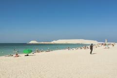 Sunset beach Dubai Stock Photography