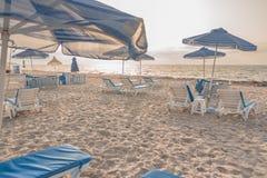 Sunset beach on Greek Kos island Stock Images