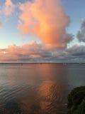 Sunset on a beach, Half Moon Bay Royalty Free Stock Image