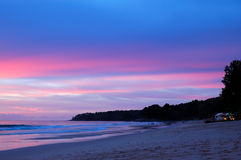 Sunset at the beach of Indian Ocean Royalty Free Stock Image