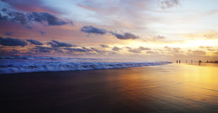 Sunset on Beach in Indonesia Royalty Free Stock Image