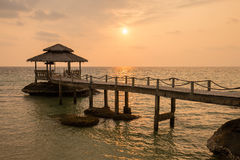 Sunset on the beach. Island Koh Kood, Thailand Royalty Free Stock Images