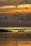 Sunset. Beach at Kaochang in Thailand Stock Images