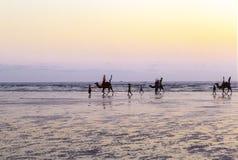 Sunset at Beach of Karachi Stock Photo