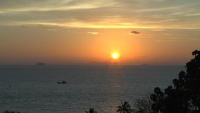 Sunset at the beach of Khao Lak. Thailand stock video