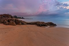 Sunset at the beach of Khao Lak. Thailand royalty free stock images
