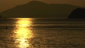 Sunset at the beach of Khao Lak. Thailand stock footage