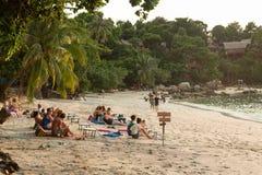 Sunset on the beach in Koh Lipe Royalty Free Stock Photo