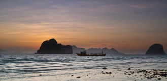 Sunset at the beach of the Koh Ngai island Thailand Stock Photography
