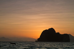 Sunset at the beach of the Koh Ngai island Thailand Stock Photo