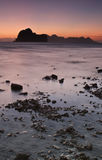 Sunset at the beach of the Koh Ngai island Thailand Royalty Free Stock Images